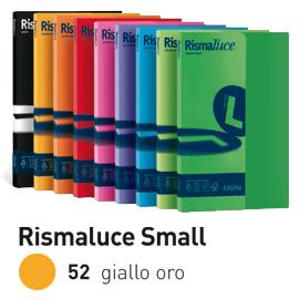 Carta RISMALUCE SMALL A4 200gr 50fg giallo oro 52 FAVINI