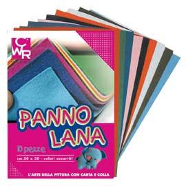 10 PEZZE PANNO LANA 20x30cm colori assortiti CWR