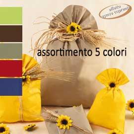 100 BUSTE REGALO IN PPL MAT A everyday classic 16x25cm 5 colori assortiti