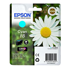 CARTUCCIA CIANO EPSON CLARIA HOMESERIE 18/MARGHERITA IN CONF. BLISTER RS