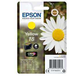 CARTUCCIA GIALLO EPSON CLARIA HOME SERIE 18/MARGHERITA IN CONF. BLISTER RS