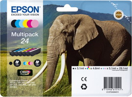 MULTIPACK 6-COLORS 24 CLARIA PHOTO HD INK