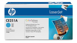 TONER CIANO COLOR LASERJET CE251A PRINT CARTRIDGE WITH COLORSPHERE TONER
