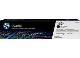 DUAL PACK BLACKHP 126A (CE310A) LASERJET TONER CARTRIDGE