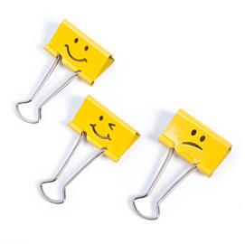 20 Molle fermacarte da 19mm Emoji giallo Rapesco
