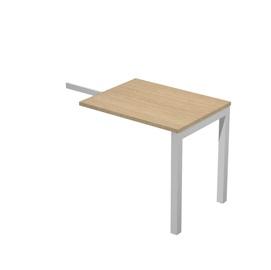 Allungo dx/sx per scrivania singola 80x60x72,5cm Rovere - Agora'