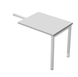 Allungo dx/sx per scrivania singola 80x60x72,5cm Bianco - Agora'