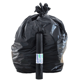 10 Sacchi nero 70x110cm 110Lt 22µ Rolsac