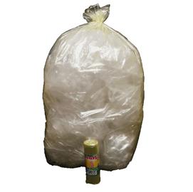 10 Sacchi Giallo trasp. 70x110cm 110Lt 22µ Rolsac
