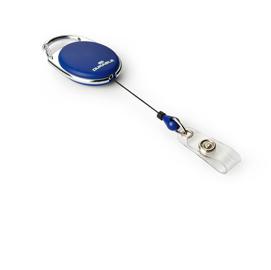 10 Chiocciole YO-YO Style Blu con filo retrattile x portabadge Durable