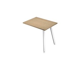 Allungo dx/sx 60x80xH74,4cm per scrivanie Skinny Metal Bianco/ Rovere