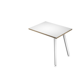 Allungo dx/sx 60x80xH74,4cm per scrivanie Skinny Metal Bianco/ Bianco