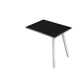 Allungo dx/sx 60x80xH74,4cm per scrivanie Skinny Metal Bianco/Nero venato